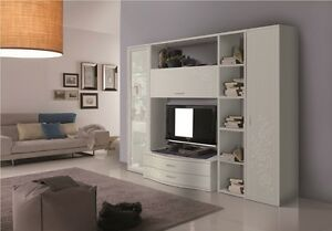 Parete attrezzata moderna porta tv plasma lcd soggiorno moderno soggiorni legno - Pareti porta tv moderne ...