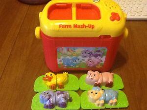Leapfrog Farm Mash Up Toy Talks Sings Animals Matching Educational Toy Ebay