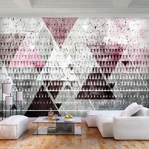 Details zu VLIES FOTOTAPETE Geometrisch modern grau rosa TAPETE WANDBILDER  xxl Wohnzimmer