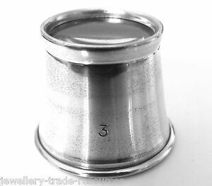 WATCHMAKERS-amp-JEWELLERS-3-3x-MAGNIFIER-EYEGLASS-MAGNIFYING-EYE-GLASS-LOUPE-LENS