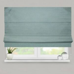 Teal Soft Woven Fully Lined Roman Blind Deluxe Cassette
