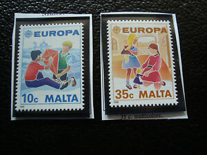 Malta-Stamp-Yvert-and-Tellier-N-795-796-Nsg-A22-Stamp-Malta