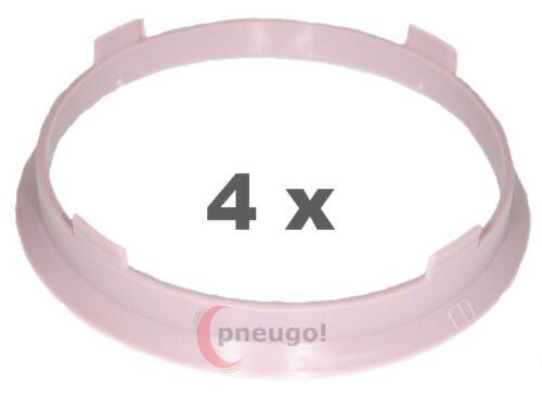 4 Piezas Anillas de centrado plástico 67.1mm a 64.1mm Hell lila
