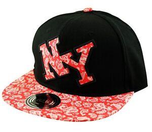 4ecf87a14d7 Itzu Bandana Paisley New York NY Applique SNAPBACK Cap Hat Snap Back ...