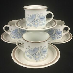 Set-of-4-VTG-Cups-and-Saucers-by-Royal-Doulton-Inspiration-Lambethware-England