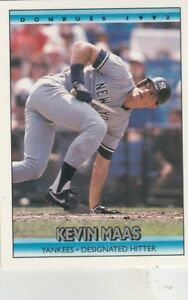 FREE-SHIPPING-MINT-1992-Donruss-153-Kevin-Maas-New-York-Yankees-Baseball-Card