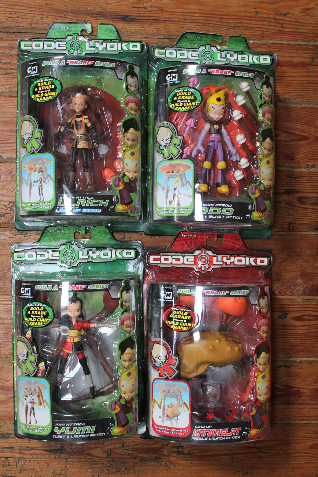 VERY VERY VERY RARE CODE LYOKO BUILD THE KRABE serie complete 5 figurines brand new 726ca0