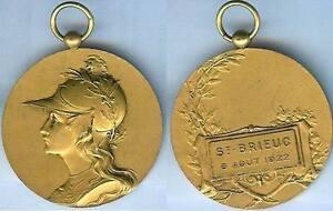 Gymnastique - Saint-brieuc 1922 Concours De Gymnastique D=40 Mm Doré Bonne Conservation De La Chaleur