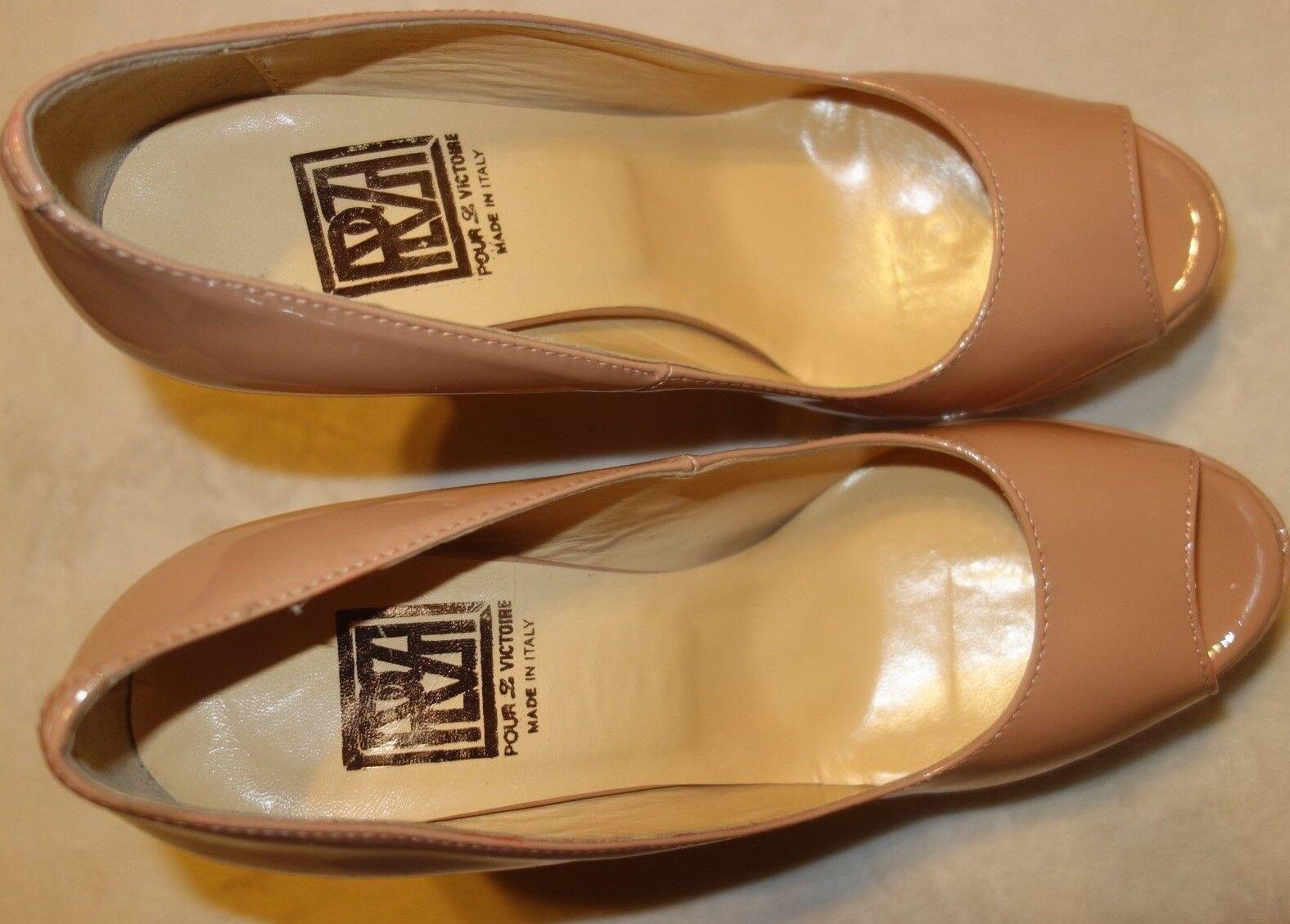Pour La Victoire Angelie Peep-Toe Pump Heels Heels Pump Sz 9 2cf621
