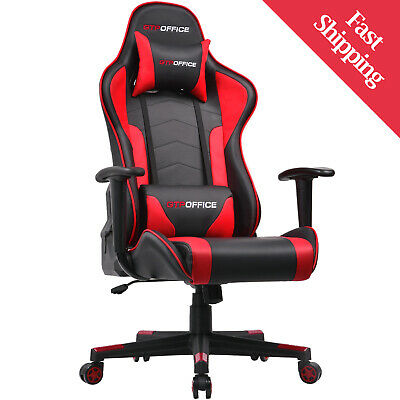 Gaming Chair Racing Office Ergonomic High Back Leather W Arms Ebay