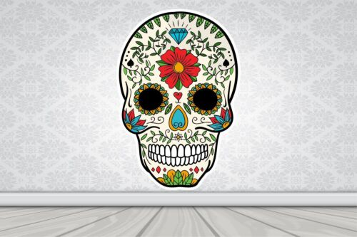 Wall Art Sticker Full Colour Sugar Skull Day of the Dead Poster Vinyl GA27-5