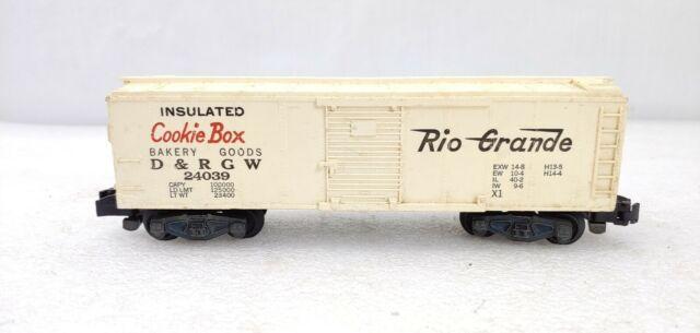 "Rarer American Flyer 24039 Rio Grande ""Cookie Box"" Box Car Type I S Scale"