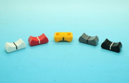 Various Colors 10 x Slide Potentiometer Mixer Knob 24mmLx11mmW for 4mm Shaft
