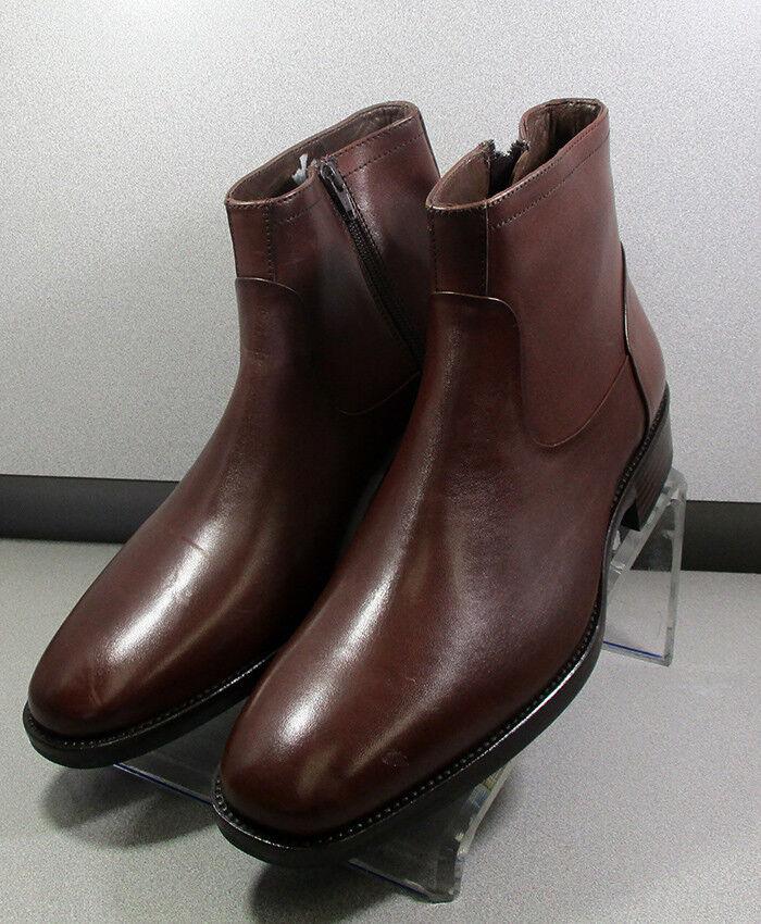 206926 SPBT50 Men's shoes Size 9 M Brown Leather Boots Johnston & Murphy