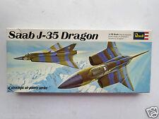 "Revell H-131:100 SAAB J-35 Dragon ""DRAKKEN"" 1/72  'Vintage' 1968 Model Kit"