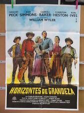 HORIZONTES DE GRANDEZA --- Gregory Peck, Charlton Heston, Jean Simmons