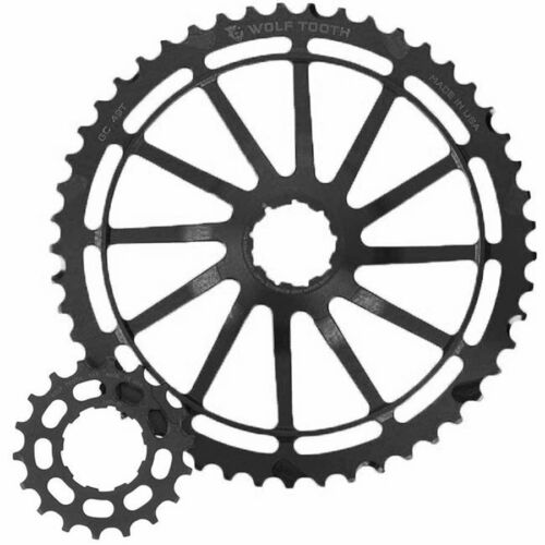 New Wolf Tooth GC49 Kit 49 /& 18t Cogs for Sram 11-42T 11 sp cassettes Black