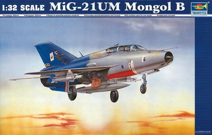 Trumpeter 9362219 MiG-21UM Mongol B 1 32 Abfangjäger Flugzeug Modellbausatz  | Üppiges Design