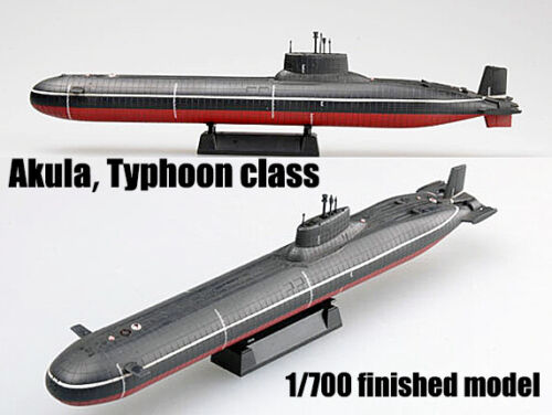 Russia Project 941 Akula Typhoon submarine U-boat 1//700 finish Easy model ship