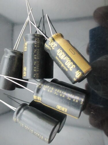 25mm 2PCS Nichicon KW 330uf 100v 330mfd audio Capacitor caps 12.5mm