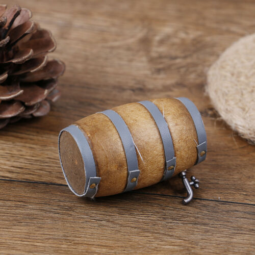 1:12 Wood doll house mini furniture accessory Beer Barrel with water tap HF
