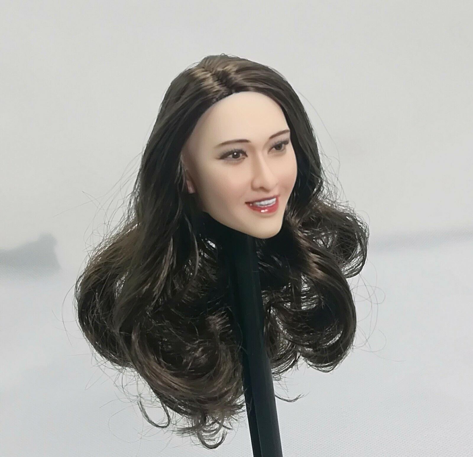 1 6 Ivanka Trump Brown Hair Girl Head Carving Sculpt For 12  Female Figure Toys