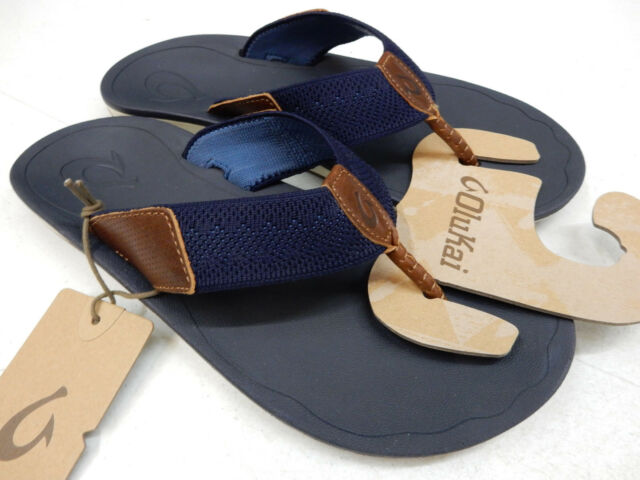 eee22520a0a6 OluKai Mens Sandals Nohona Ulana Trench Blue Size 11 for sale online ...