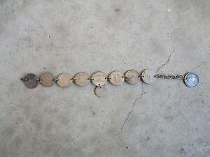 antique-1870-US-Love-Token-Silver-Dimes-Bracelet-Original-Rare-Hobo-Made-10-coin