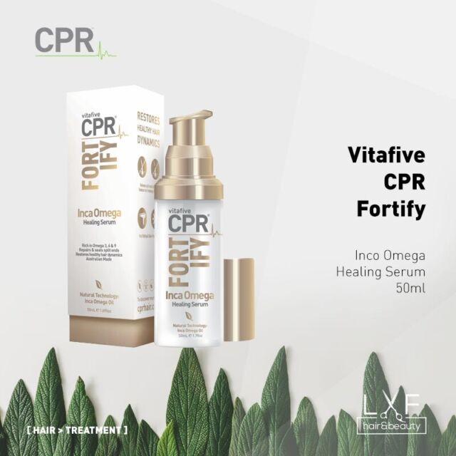 Vita 5 CPR Fortify Inca Omega Healing Serum 50ml (VitaFive) Restores Hair Repair