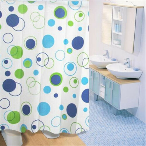 Shell /& Starfish Fabric Bathroom Shower Curtain Liner waterproof 1.8*2m 12 hooks