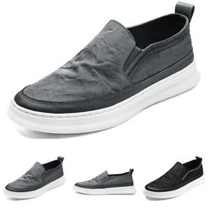 Mens Driving Moccasins Breathable Flats New Canvas Pumps Slip on Loafers Shoes B