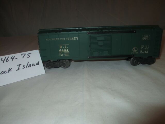 Lionel Rock Island Box Car #6464-75 Postwar 1953-69 Green O Gauge 3 Rail Track