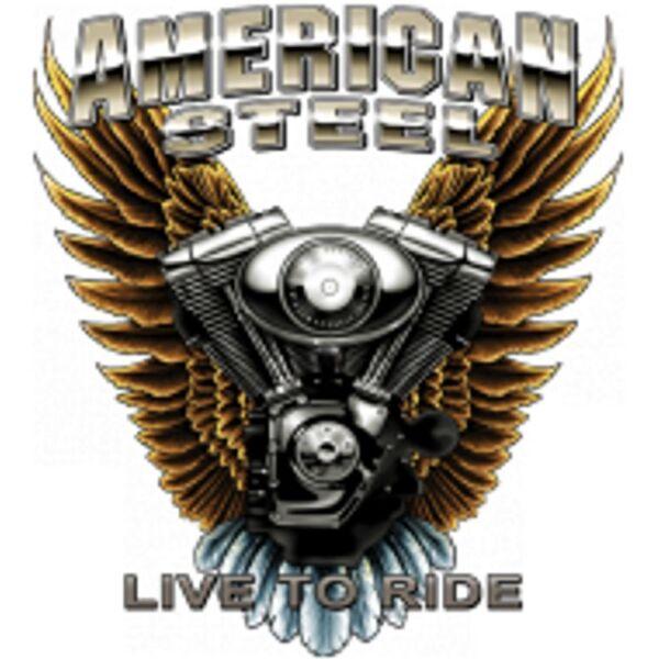 Sweatshirt in schwarz HD-, Biker-,Chopper-&Old Schoolmotiv Modell American Steel