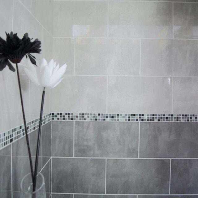 40x25cm dark grey gloss ceramic wall tiles 1 sqm 10tiles ebay