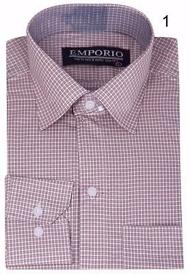 Nuova Linea Uomo Emporio A Maniche Lunghe Check Camicia Smart Casual Formale-mostra Il Titolo Originale Ad Ogni Costo