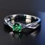 Damen-Ring-Echt-Silber-925-3-Farben-Zirkonia-Edelstein-Damenringe-Geschenk-Neu Indexbild 15