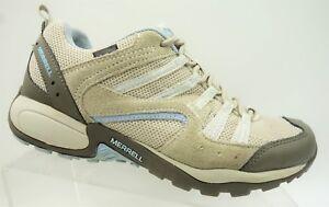 Merrell-Tuskora-Waterproof-Blue-Brown-Hiking-Walking-Sneakers-Shoes-Women-039-s-8-5