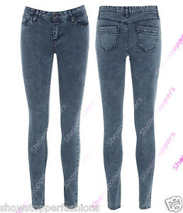 NEW-TUBE-Jeans-Womens-Denim-Skinny-Jean-Size-8-10-12-14-16-Pant-Blue-Ladies