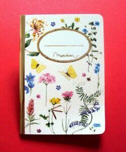 *Notizheft*Notizbuch*Mein Notizbuch*MON CARNET*Blumen*Käfer*Vögel*DIN A6*blanco*