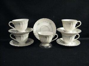 SYRACUSE SILHOUETTE FINE CHINA SWEETHEART FOOTED CUPS & SAUCERS ...