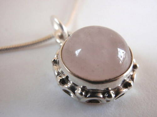 Rose Quartz Rope Brim Sterling Silver Necklace India