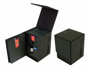 Ultra-Pro-PRO-TOWER-BLACK-Deck-Box-Large-Dual-Storage-MTG-Game-Card-Dice-84023