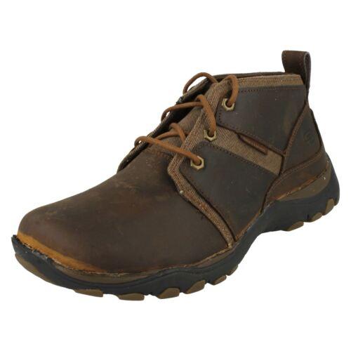 marrón marrón oscuro con Skechers Botas cordones para hombre 'lutador' W1f4qSw