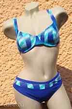 Sportlicher Bikini in aktuellem Design Gr. 36D von NATURANA! NEU! Blau, Weiss