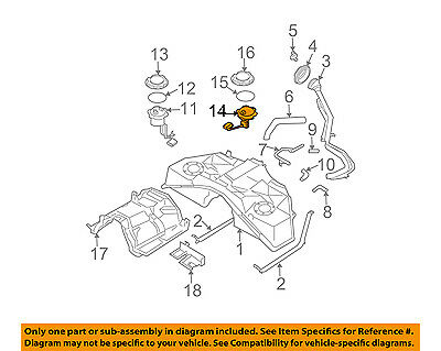NISSAN OEM-Fuel Level Sending Unit Left 25060CD00A Coupe Only