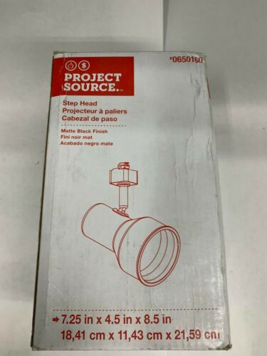 Matte Black Finish Project Source 0650160 Step Head