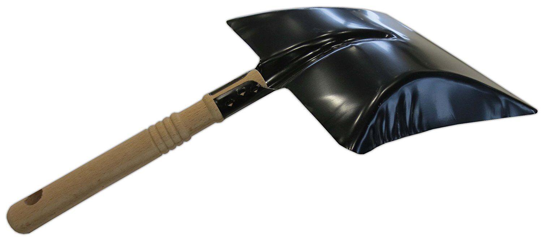 Kehrschaufel Metall schwarz lackiert robust Holzgriff Nölle Kehrblech