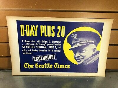 """Vintage Seattle Times Display Card /""""Order Today/"""""""
