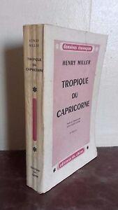 Henry Miller Tropic de La Capricornio 2è Edition Roble París 1946 Buen Estado