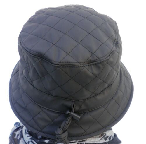 Ladies Rain Hat Padded Weather Choice of Colours Hats Case Travel